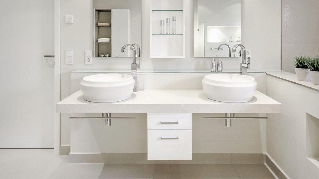 Mehr Komfort mit einer modernen Waschtischanlage.